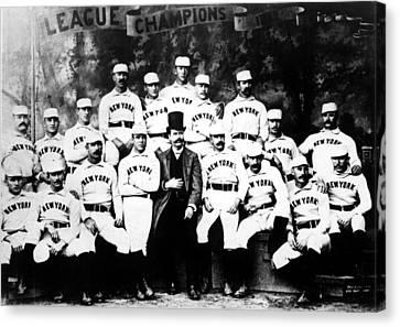New York Giants, Baseball Team, 1889 Canvas Print by Everett