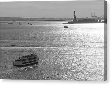 New York Harbor Canvas Print by Christian Heeb