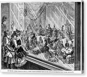 New York: Macys, 1876 Canvas Print by Granger