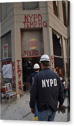 New York Police Department Set Canvas Print by Everett