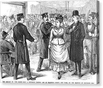 New York Police Raid, 1875 Canvas Print by Granger