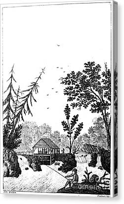 New York: Saw Mill, 1792 Canvas Print by Granger