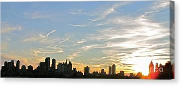 New York Sunset 2 Canvas Print by Randi Shenkman