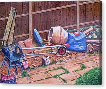 Next Doors Back Yard Canvas Print by Aleck Rich Seddon