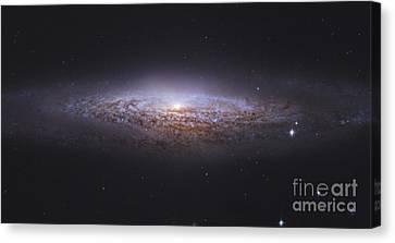 Ngc 2683, Unbarred Spiral Galaxy Canvas Print by Robert Gendler