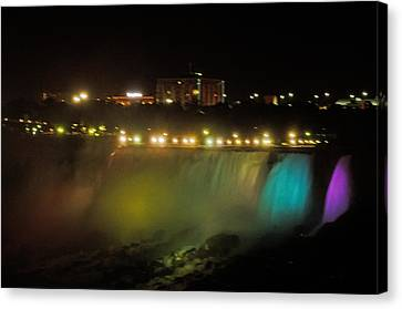 Niagara Fall Colors Canvas Print by Cheryl Cencich