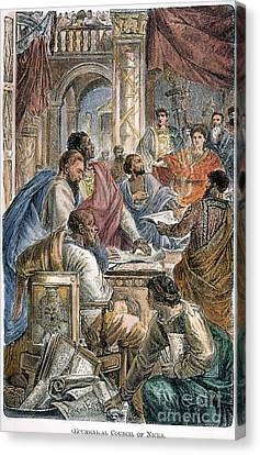 Nicaea Council, 325 A.d Canvas Print by Granger