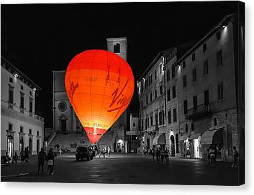 Night Balloon Canvas Print by Michael Avory