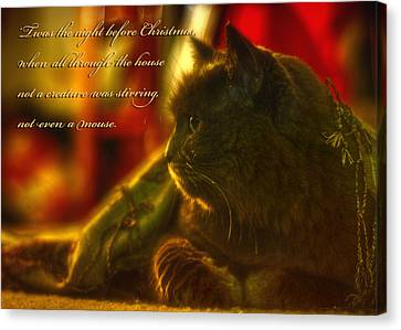 Night Before Christmas... Canvas Print by Joann Vitali
