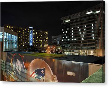 Night Before Super Bowl Xlvi Canvas Print by Brittany H