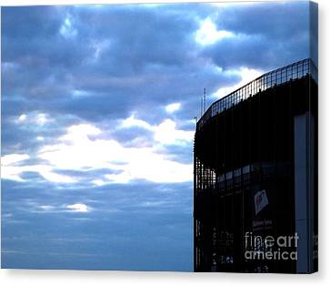 Night Falls At The Track Canvas Print by Chad Thompson