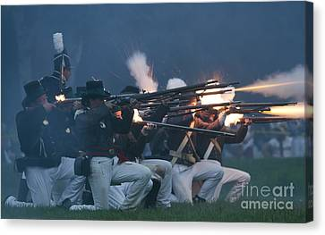 Night Firing Canvas Print by JT Lewis