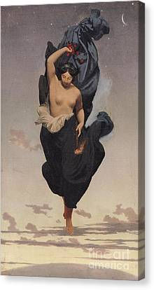 Night Canvas Print by Jean Leon Gerome