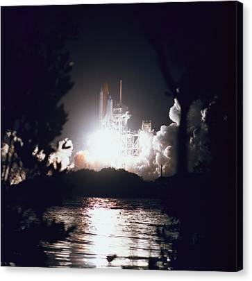 Night Launch Of The Space Shuttle Canvas Print by Stockbyte