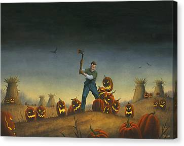 Night Of The Jack-o-lanterns Canvas Print by Stacy Drum