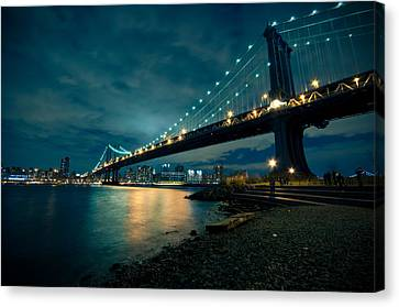Night Reflections Canvas Print by Jonatan Martin