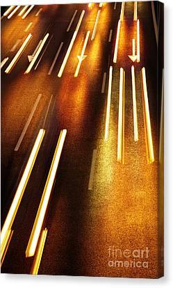 Night Traffic Canvas Print by Carlos Caetano
