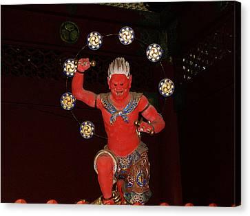 Nikko Red Figure Canvas Print by Naxart Studio