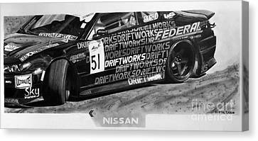 Nissan S15 Driftworks 2010 Canvas Print by Gabor Bartal