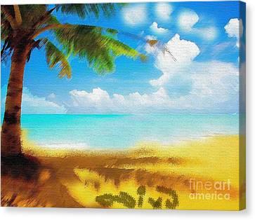 Nixo Landscape Beach Canvas Print by Nicholas Nixo