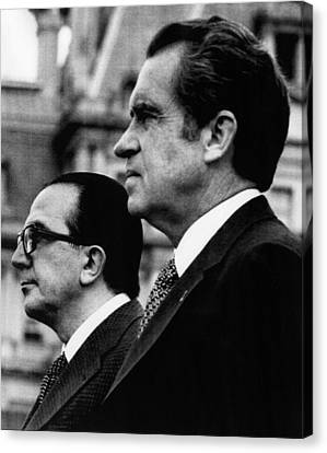 Nixon Presidency.  Italian Prime Canvas Print by Everett