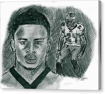 Nnamdi Asomugha Canvas Print by Chris  DelVecchio