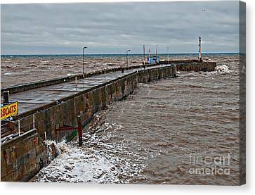 No Boats Today Canvas Print by David  Hollingworth