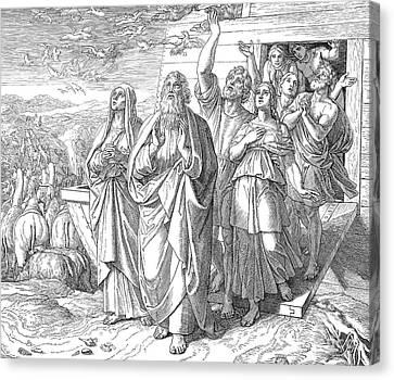Noah Leaving Ark Canvas Print by Granger