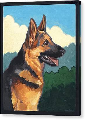 Noble German Shepherd Dog Canvas Print by Shawn Shea