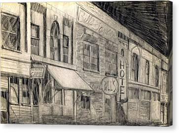 Noir Street Canvas Print by Mel Thompson