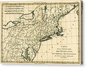 Northeast Coast Of America Canvas Print by Guillaume Raynal