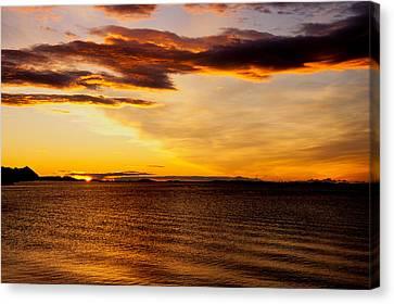 Northern Sunset Canvas Print by Hakon Soreide