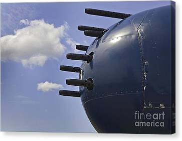 Nose Guns On B25 Mitchell Airplane Canvas Print by M K  Miller