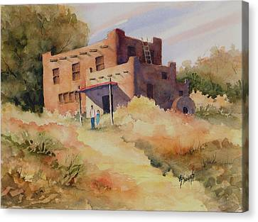 Not Far From Espanola Canvas Print by Sam Sidders
