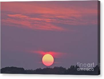 Not Just Another Connecticut Sunset Canvas Print by Cindy Lee Longhini