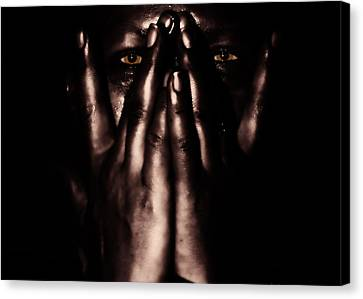 Not My Dark Soul.. Canvas Print by Stelios Kleanthous