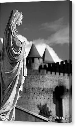Notre Dame Carcassonne Canvas Print by Robert Lacy