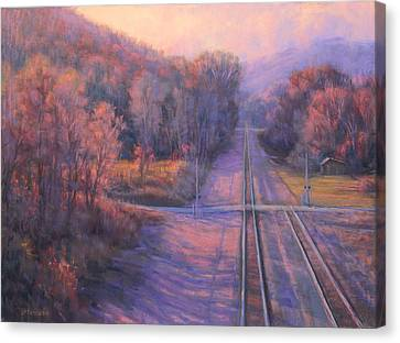 November Crossroads Canvas Print by Joe Mancuso
