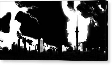 Nuclear Fallout Canvas Print by Russell Clenney