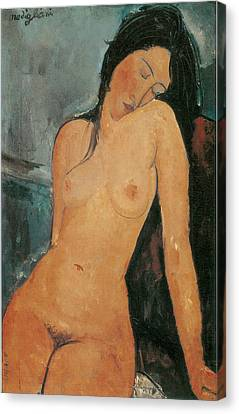 Nude Canvas Print by Amedeo Modigliani