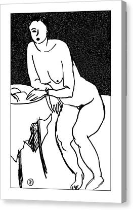 Nude Sketch 40 Canvas Print by Leonid Petrushin