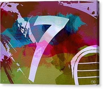 Number 7 Canvas Print by Naxart Studio