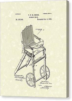 Nursery Chair 1885 Patent Art Canvas Print by Prior Art Design