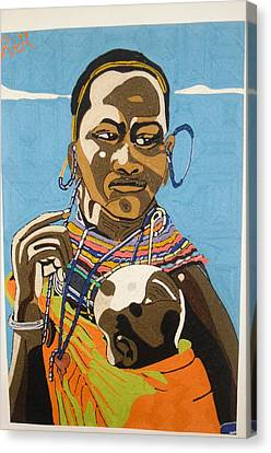 Nurturing Canvas Print by Richmond Agbesi