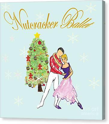 Nutcracker Ballet Romance Canvas Print by Marie Loh