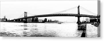 Nyc - Manhattan Bridge Canvas Print by Hannes Cmarits