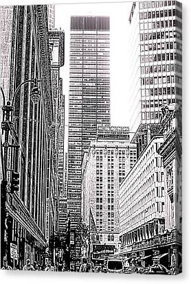 Nyc Buildings Labyrinth Canvas Print by Mario Perez