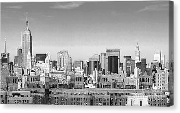 Nyc Bw Canvas Print by Chuck Kuhn