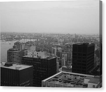 Nyc From The Top 2 Canvas Print by Naxart Studio