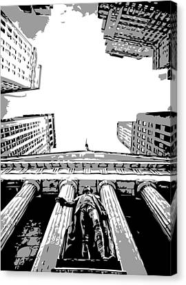 Nyc Looking Up Bw3 Canvas Print by Scott Kelley